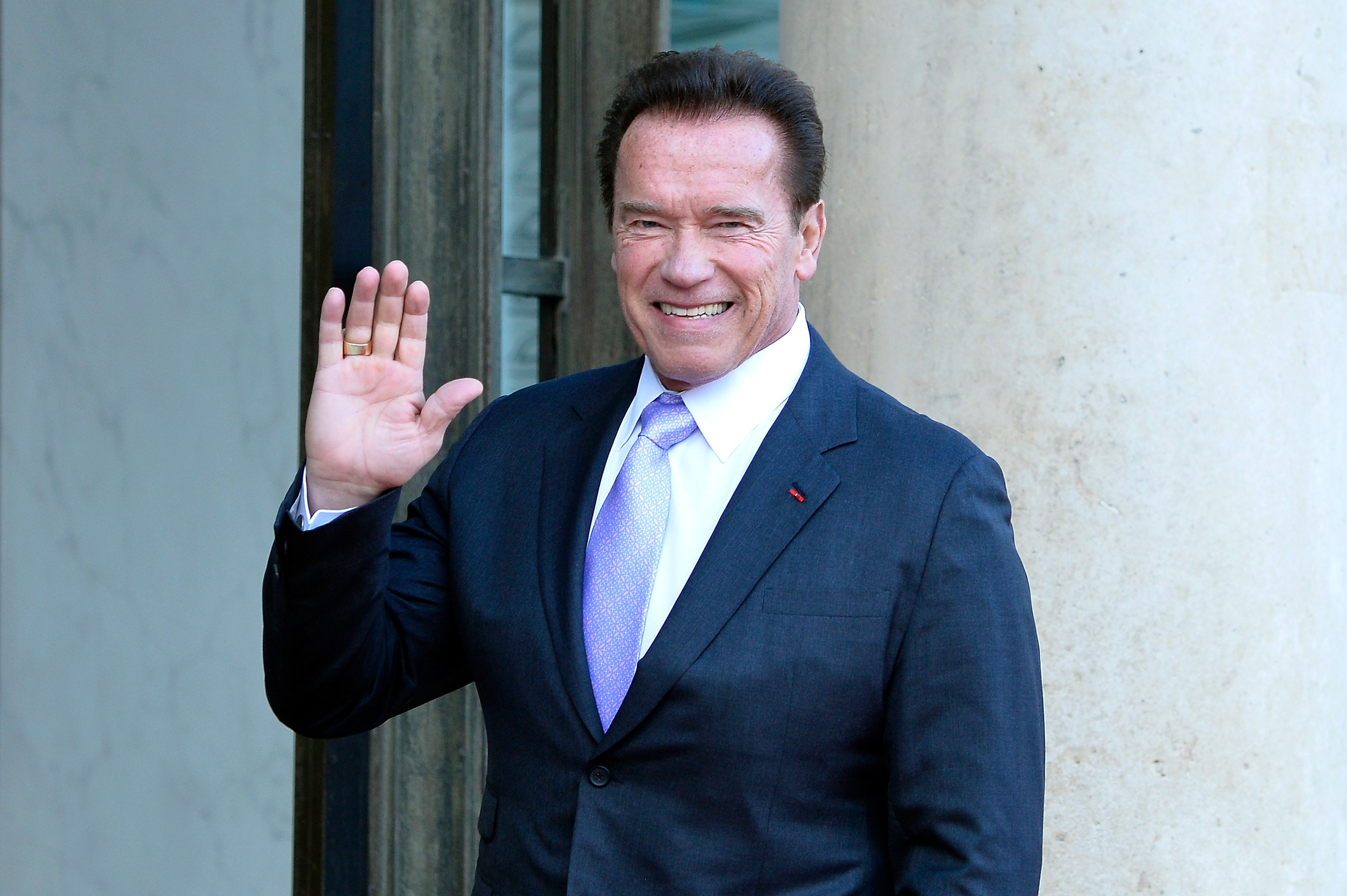 Arnold Schwarzenegger attends the One Planet Summit on December 12, 2017, in Paris, France. | Source: Getty Images.