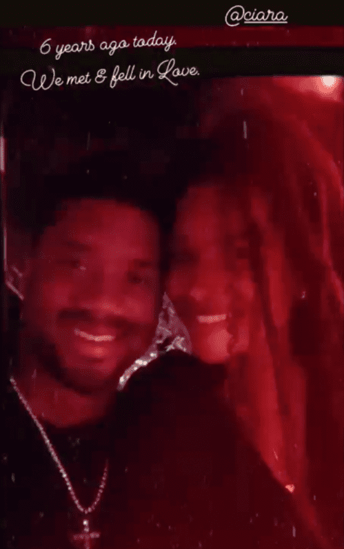 A picture of the couple, Ciara and Russell Wilson as they celebrate their anniversary | Photo: instagram/dangerusswilson