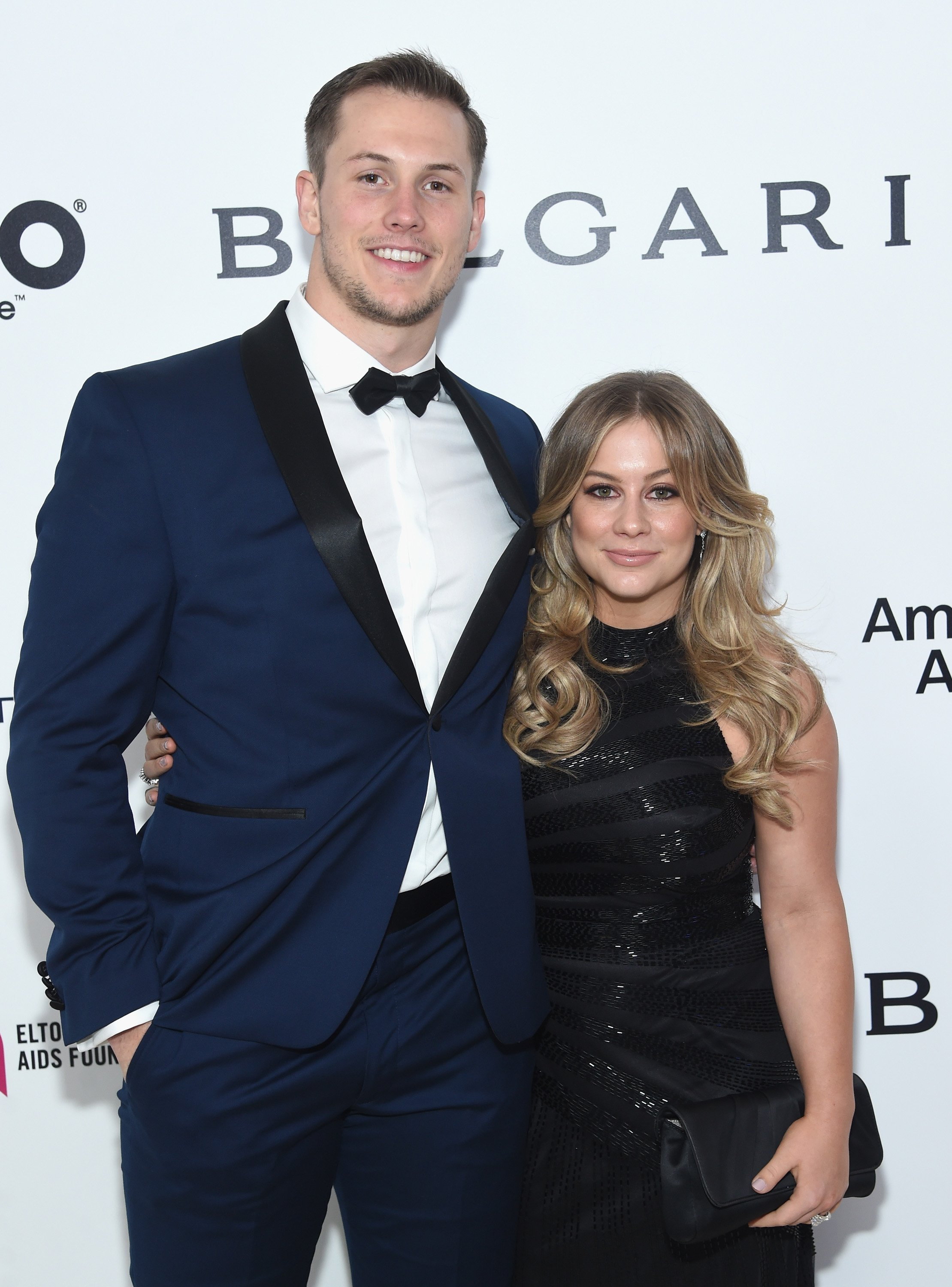 Olympic Gymnast Shawn Johnson and Andrew East attend the 25th Annual Elton John AIDS Foundation's Academy Awards Viewing Party at The City of West Hollywood Park on February 26, 2017 in West Hollywood, California | Photo: Getty Images