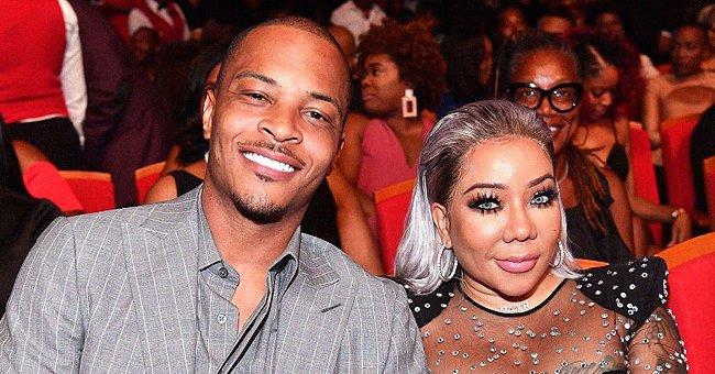 TI & Tiny Harris' Daughter Heiress Steals Hearts as She Dons a Blue Lacy Princess Dress (Photo)