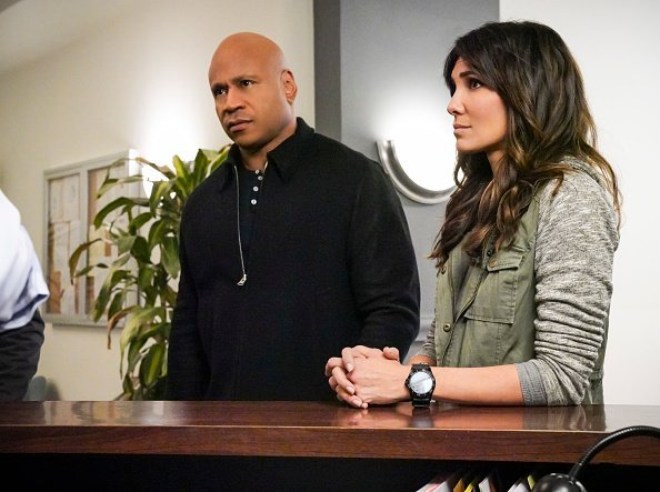 LL COOL J (Special Agent Sam Hanna) and Daniela Ruah during the filming of NCIS on Sunday, March 24 | Photo: Getty Images