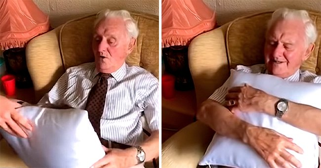 British War Veteran Moved to Tears after Getting a Pillow with His Late Wife's Photo
