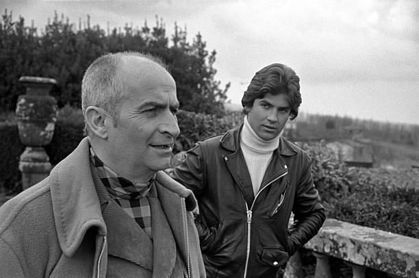 Louis de Funès et son fils Olivier en 1970. l Source : Wikipedia