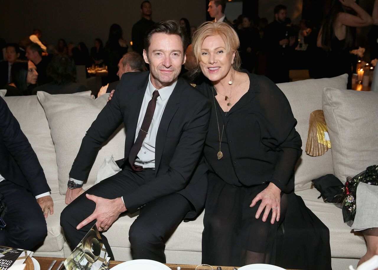 Hugh Jackman and Deborra-Lee Furness attend the 2017 Stephan Weiss Apple Awards. | Source: Getty Images