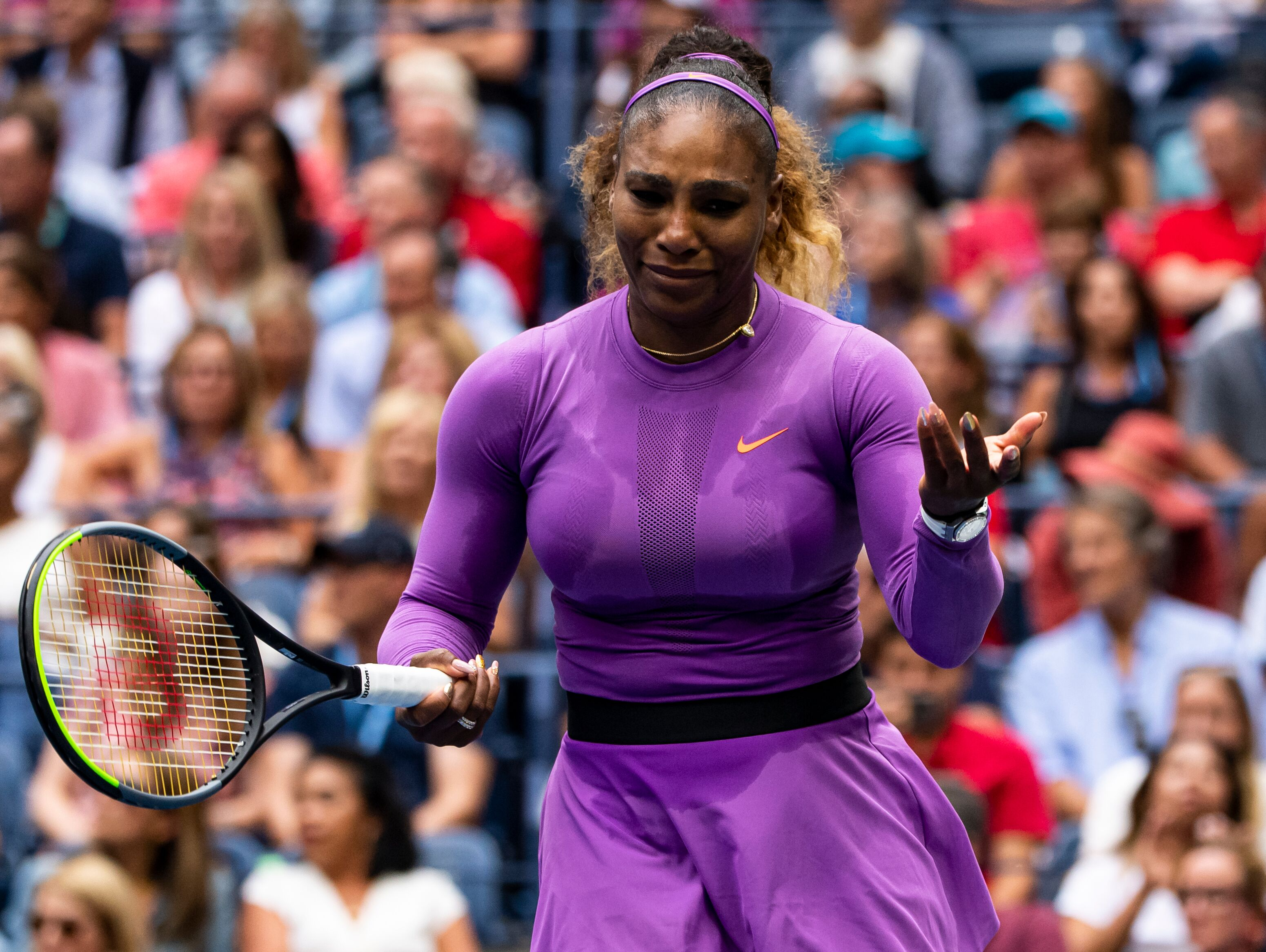 Serena Wiliams during her match against Bianca Andreescu at the US Open Finals Match   Source: Getty Images / GlobalImagesUkraine