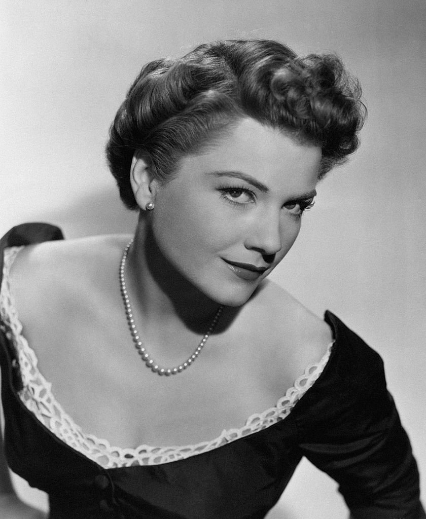 Portrait of American actress Anne Baxter on the set of the film All About Eve. United States, 1950.   Photo: Getty Images