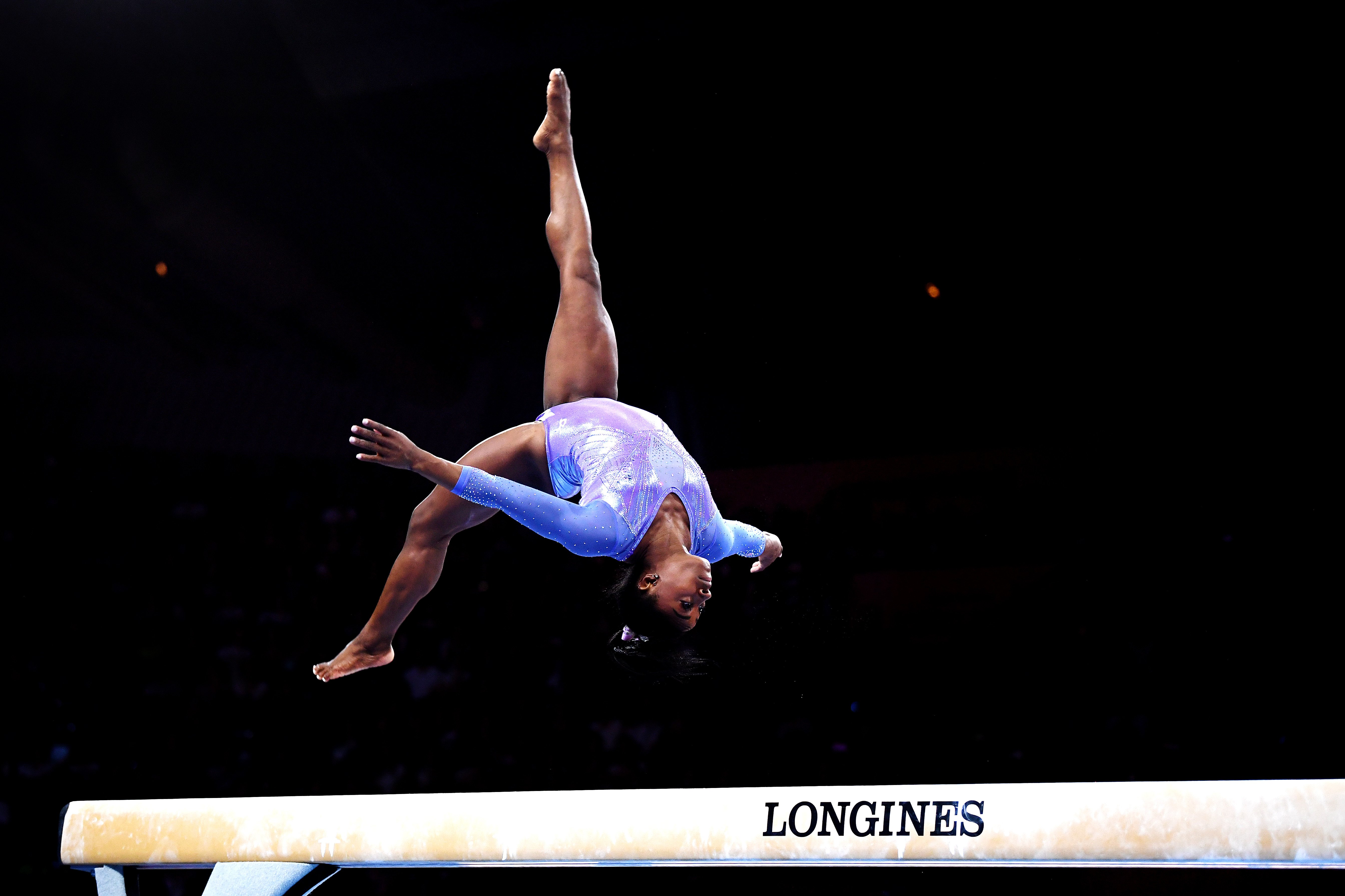 Simone Biles competes the the 49th FIG Artistic Gymnastics World Championships on October 13, 2019 in Stuttgart, Germany.   Source: Getty Images