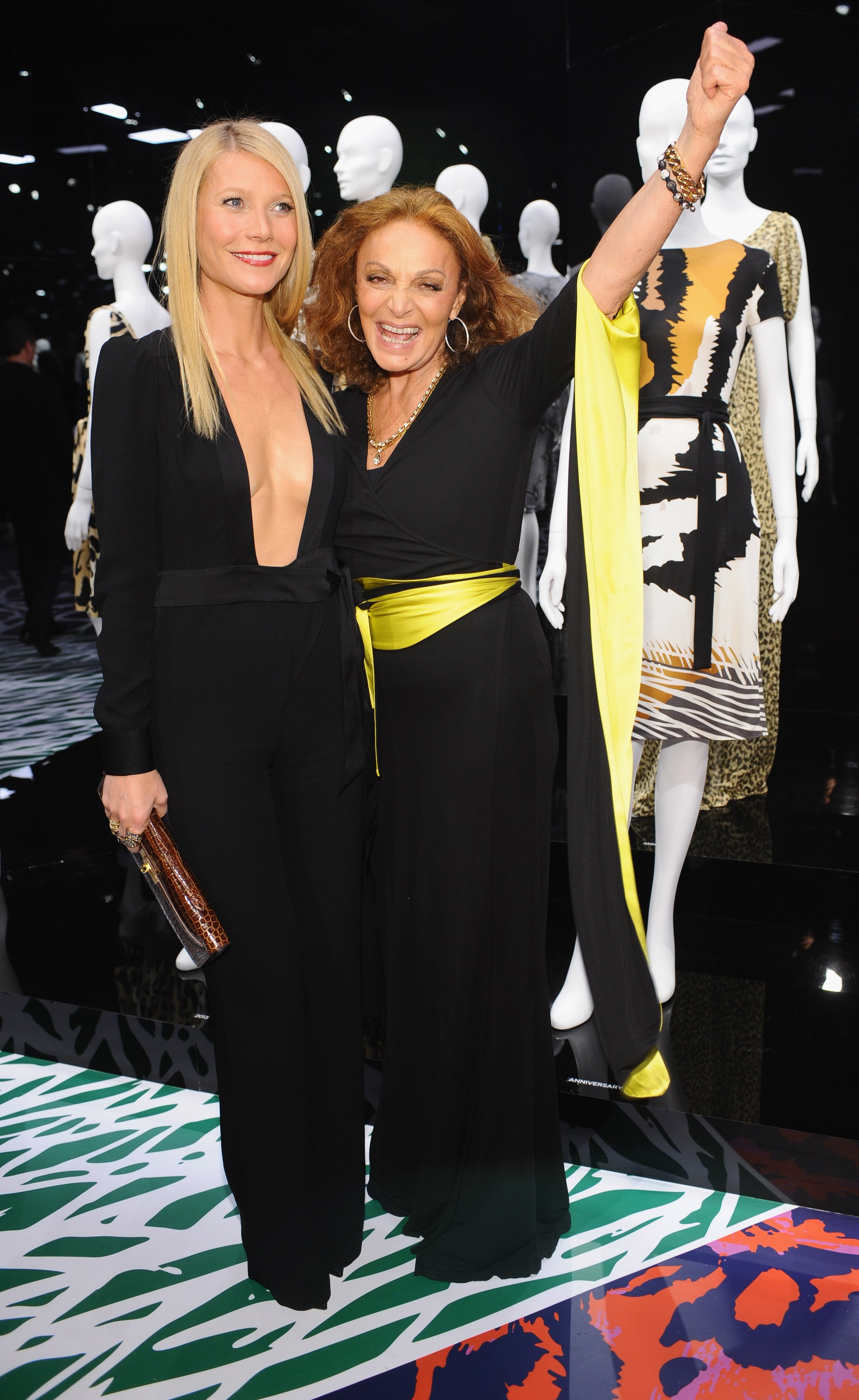 Actress Gwyneth Paltrow and Diane Von Furstenberg attend Diane Von Furstenberg's Journey of A Dress Exhibition Opening Celebration at May Company Building at LACMA West in Los Angeles, California   Photo: Stefanie Keenan/Getty Images for Diane Von Furstenberg