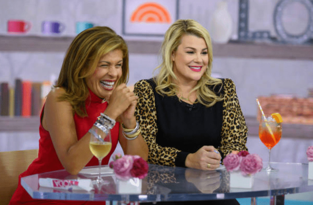 "Hoda Kotb and Heather McMahan drink wine and cocktails while co-hosting an episode of ""Today,"" on Monday, October 7, 2019 