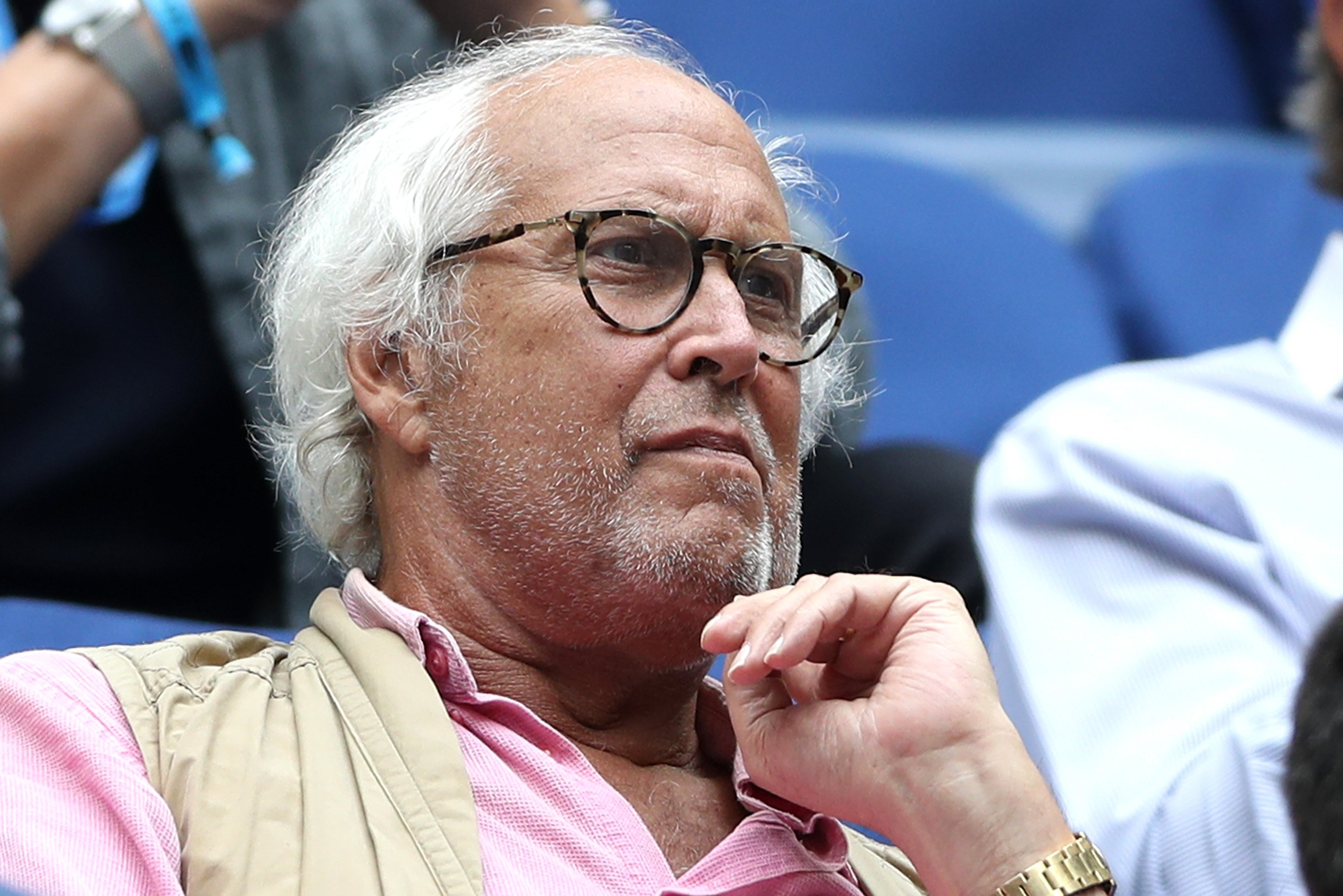 Chevy Chase in attendance at the 2018 US Open Men's Semi Final in New York, on September 7, 2018. | Photo: Getty Images.