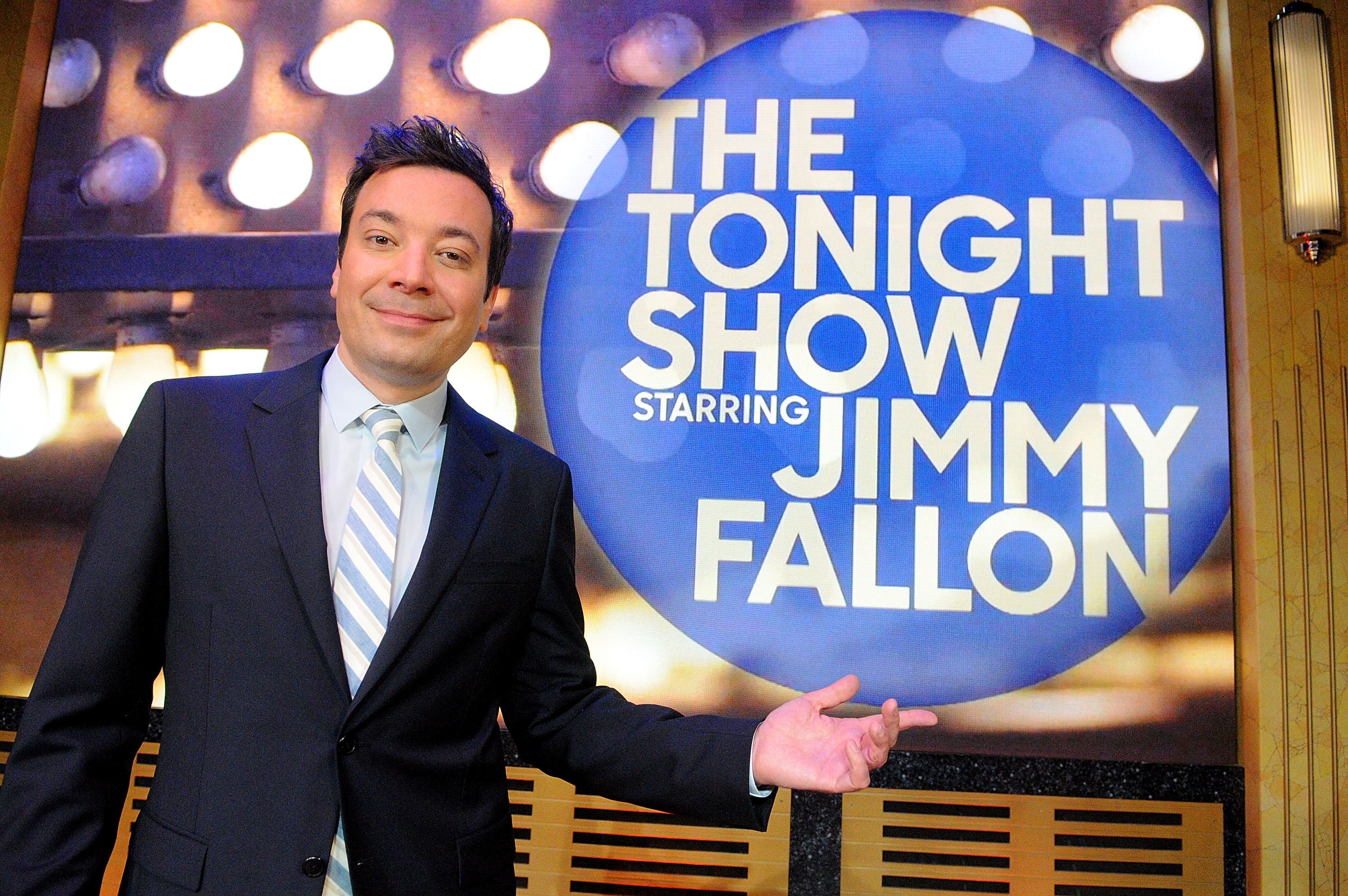 Jimmy Fallon poses during a presentation for the media on April 3, 2017, in Orlando, Florida. | Source: Getty Images.