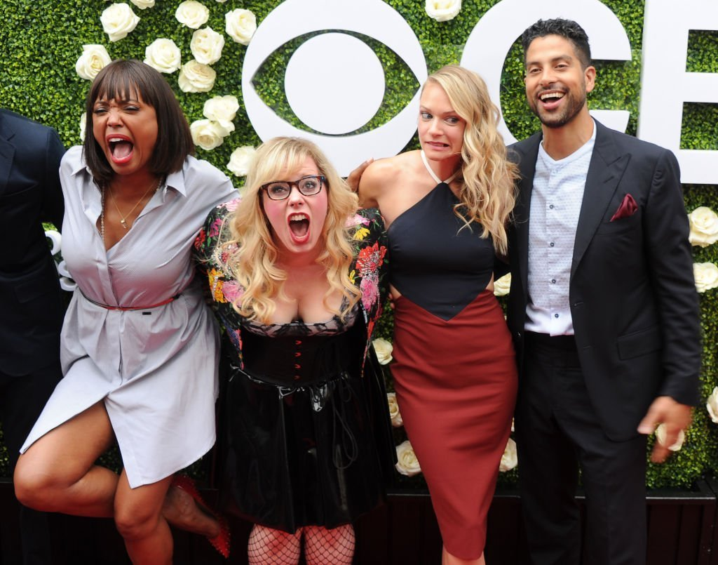 Aisha Tyler, Kirsten Vangsness, A.J. Cook and Adam Rodriguez on August 1, 2017 in Studio City, California | Source: Getty Images