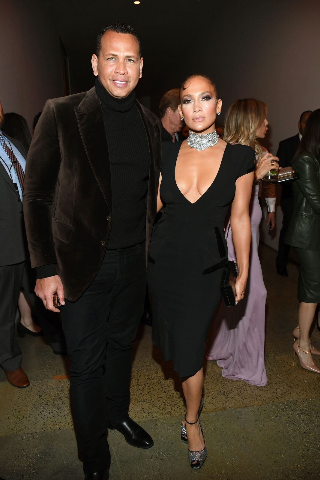 Alex Rodriguez and Jennifer Lopez at the Tom Ford AW20 Show on February 07, 2020 in Hollywood | Getty Images