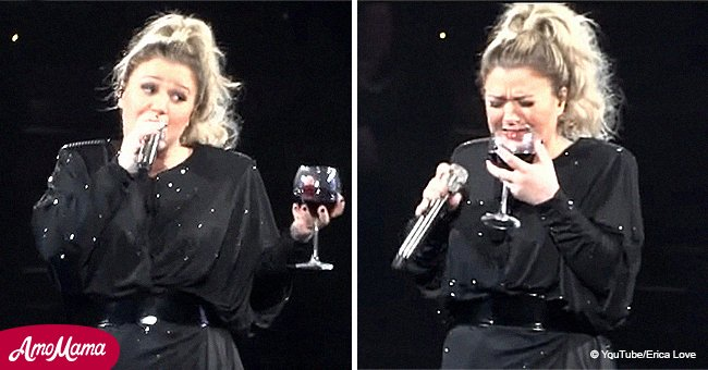 Kelly Clarkson sips wine while performing emotionally powerful cover of Miranda Lambert's song