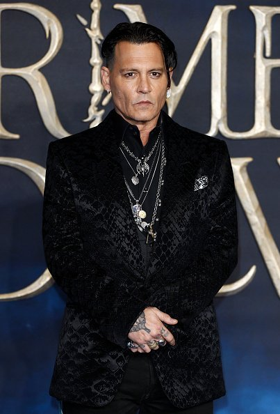 "Johnny Depp, Premiere ""Fantastic Beasts"", London, 2018 