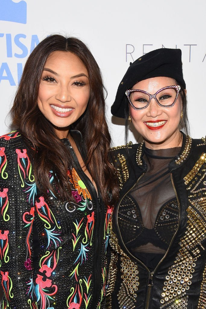 "Jeannie Mai and her mother, Olivia TuTram attending Autism Speaks' ""Into the Blue"" Gala in October 2018. 