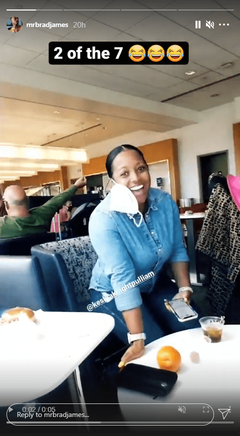 Keshia Knight Pulliam during a dinner date with her fiancé Brad James and daughter Ella | Photo: Instagram.com/mrbradjames