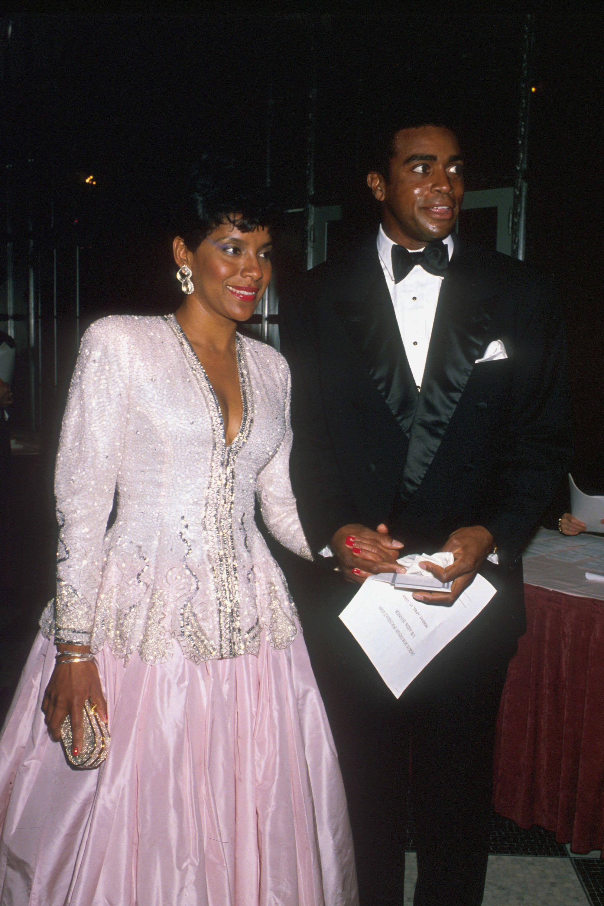Phylicia Rashad and husband/sportscaster Ahmad Rashad arrive at an event in New York City, April 15, 1989 | Photo: GettyImages