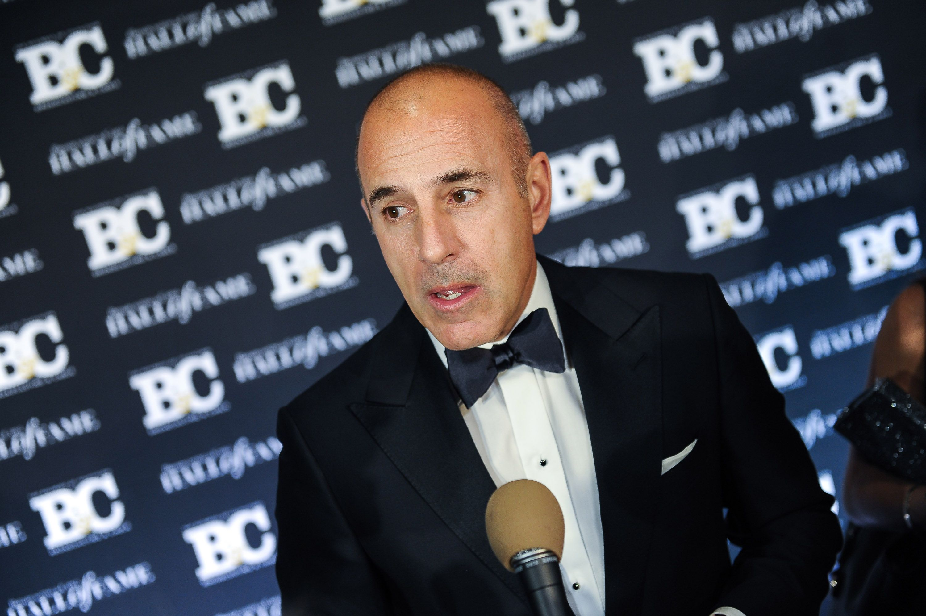 Matt Lauer at Broadcasting and Cable Hall Of Fame Awards 25th Anniversary Gala on October 20, 2015, in New York City. | Photo: Getty Images