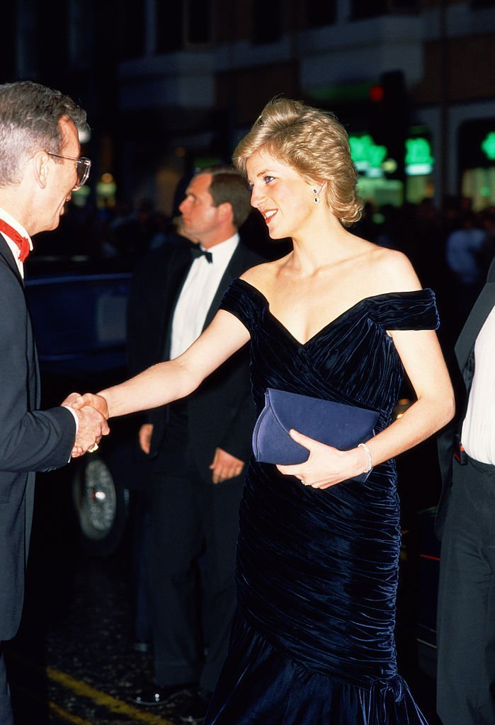 Princess Diana attending the premiere of Oliver Stone's film 'Wall Street' | Photo: Getty Images
