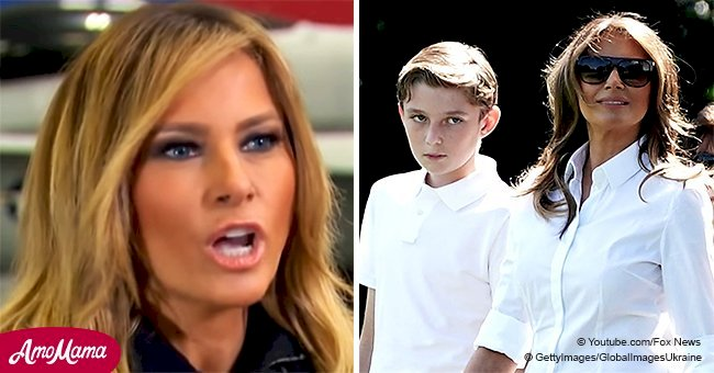 Melania is infuriated with media attacks on her son, speaking of his protection in a frank video