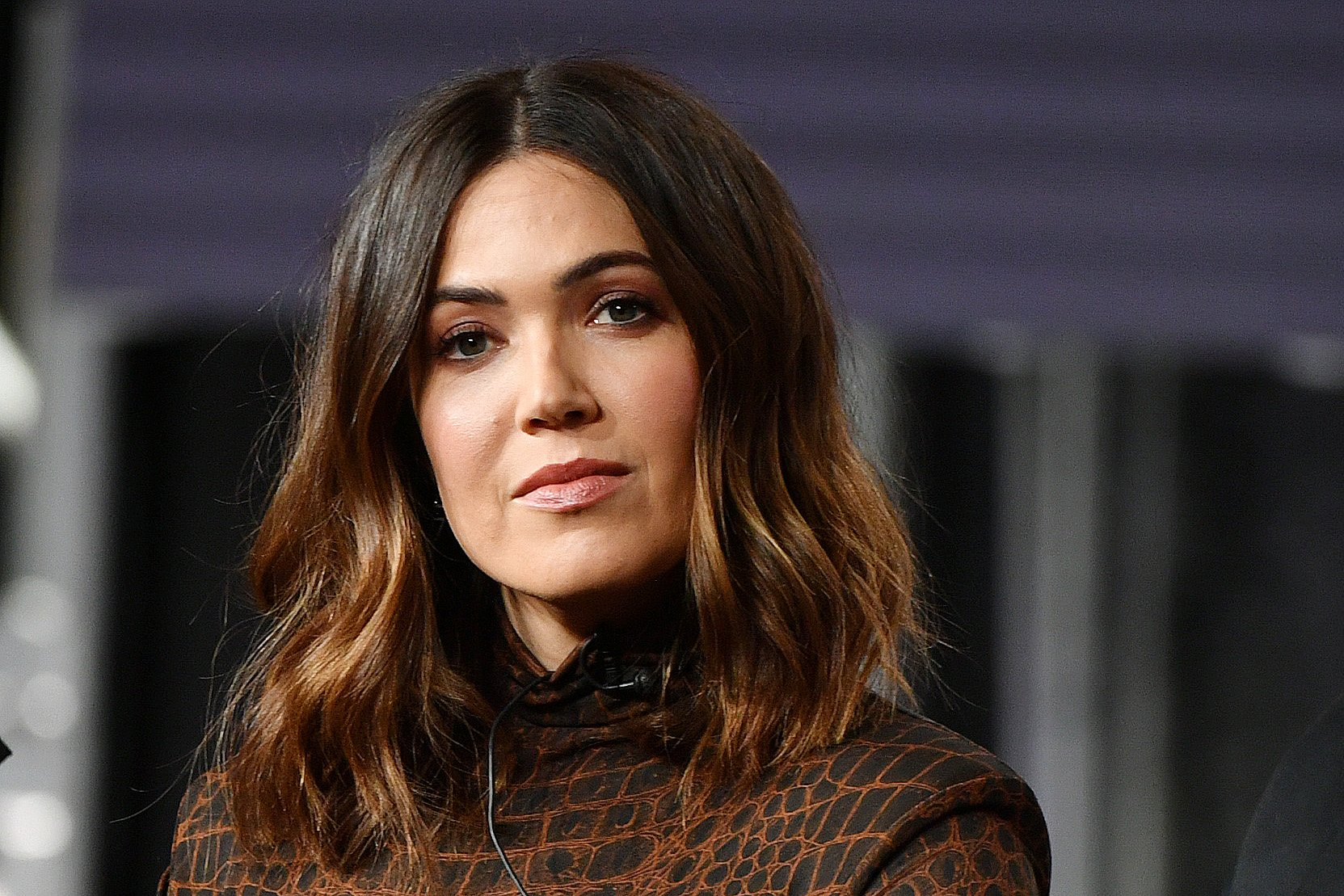 """Mandy Moore of """"This Is Us"""" speaks during the NBCUniversal segment of the 2020 Winter TCA Press Tour at The Langham Huntington, Pasadena on January 11, 2020 in Pasadena, California 