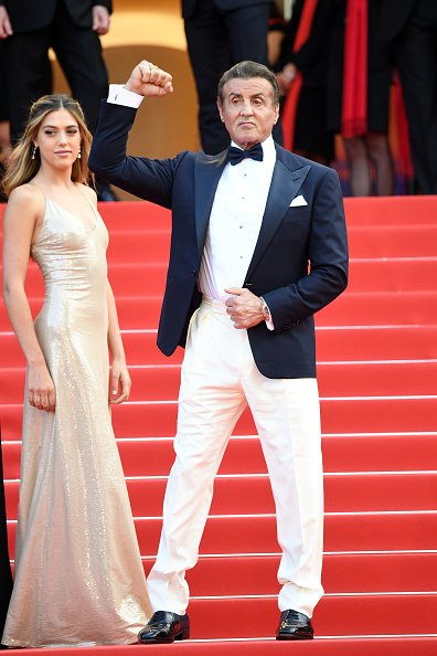 Sophia Rose and Sylvester Stallone during the 72nd annual Cannes Film Festival on May 25, 2019 in Cannes, France. | Photo: Getty Images