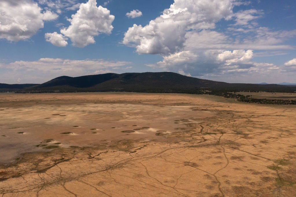 Dried up Mormon Lake due to worsening drought near Flagstaff, Arizona. July 5, 2021 | Source: Getty Images