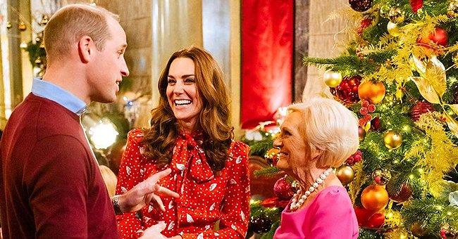 Duchess Kate Looks Radiant in Polka Dot Dress & Queen Elizabeth's Earrings While Filming 'A Berry Royal Christmas'