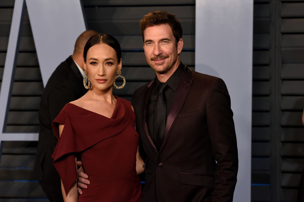 Maggie Q and Dylan McDermott at the 2018 Vanity Fair Oscar Party on March 4, 2018   Photo: Getty Images
