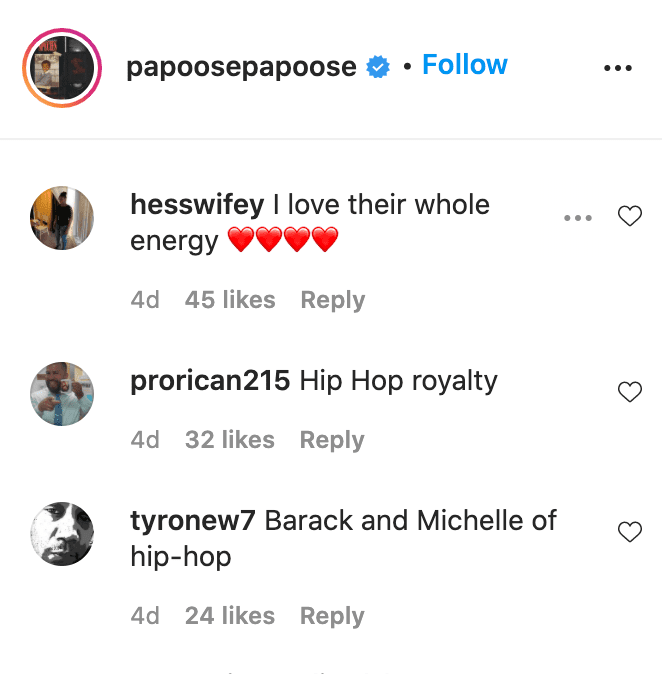 Screenshot of fan comments on Papoose and Remy Ma's Instagram video. | Source: Instagram/papoosepapoose