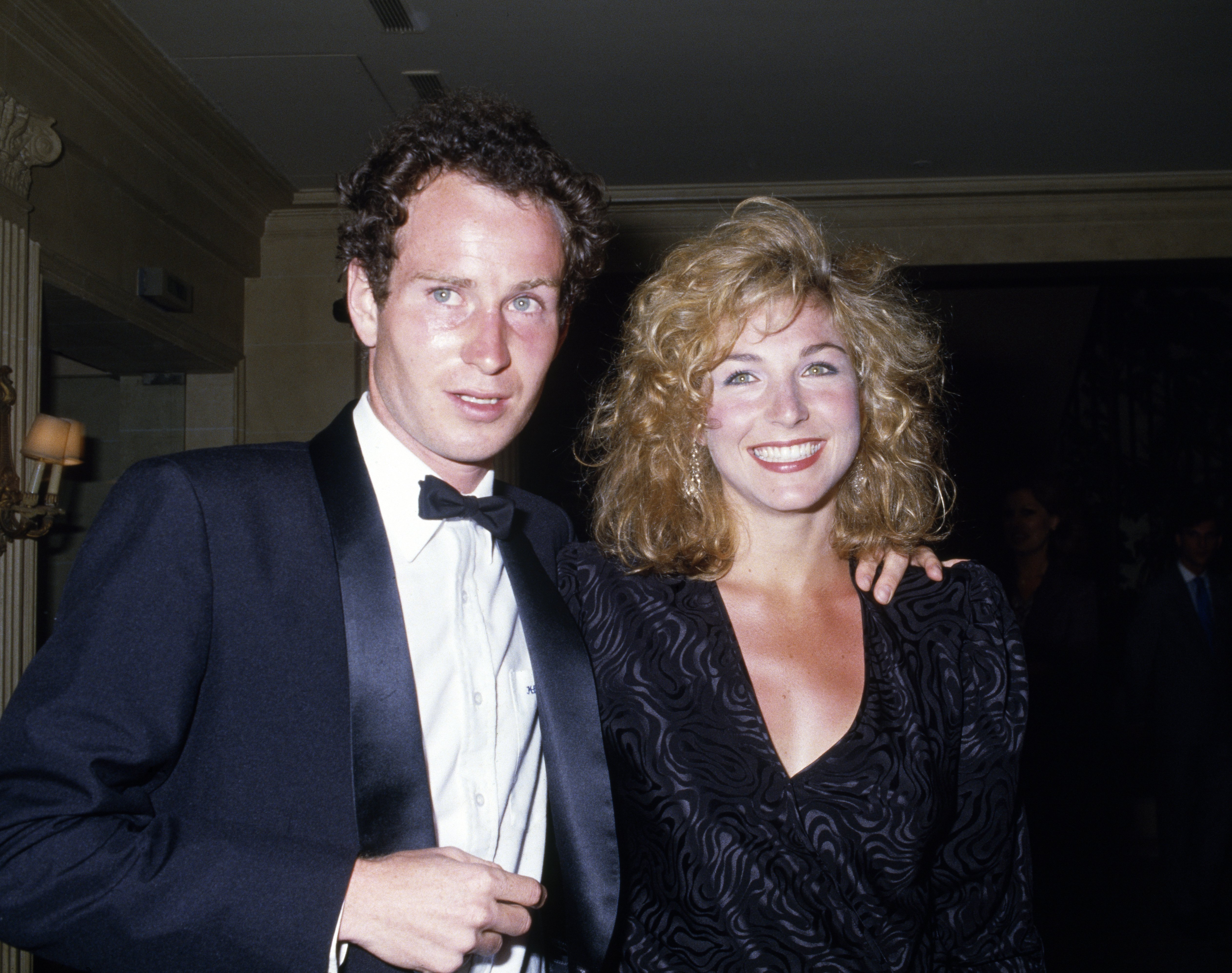 John McEnroe and Tatum O'Neal at the Players' Evening event during the French Open Tennis Championships on May 4, 1985 in Paris, France | Photo: GettyImages