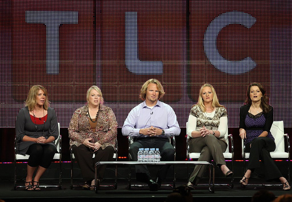 "Meri Brwon, Janelle Brown, Kody Brown, Christine Brown and Robyn Brown speak duinrg the ""Sister Wives"" panel during the 2010 Summer TCA press tour held at the Beverly Hilton Hotel on August 6, 2010. 