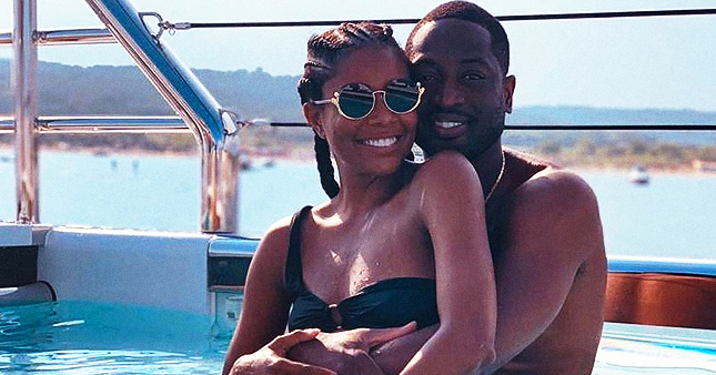 'AGT' Judge Gabrielle Union & Dwyane Wade Pose in a Pool in Celebration of Their 5th Anniversary