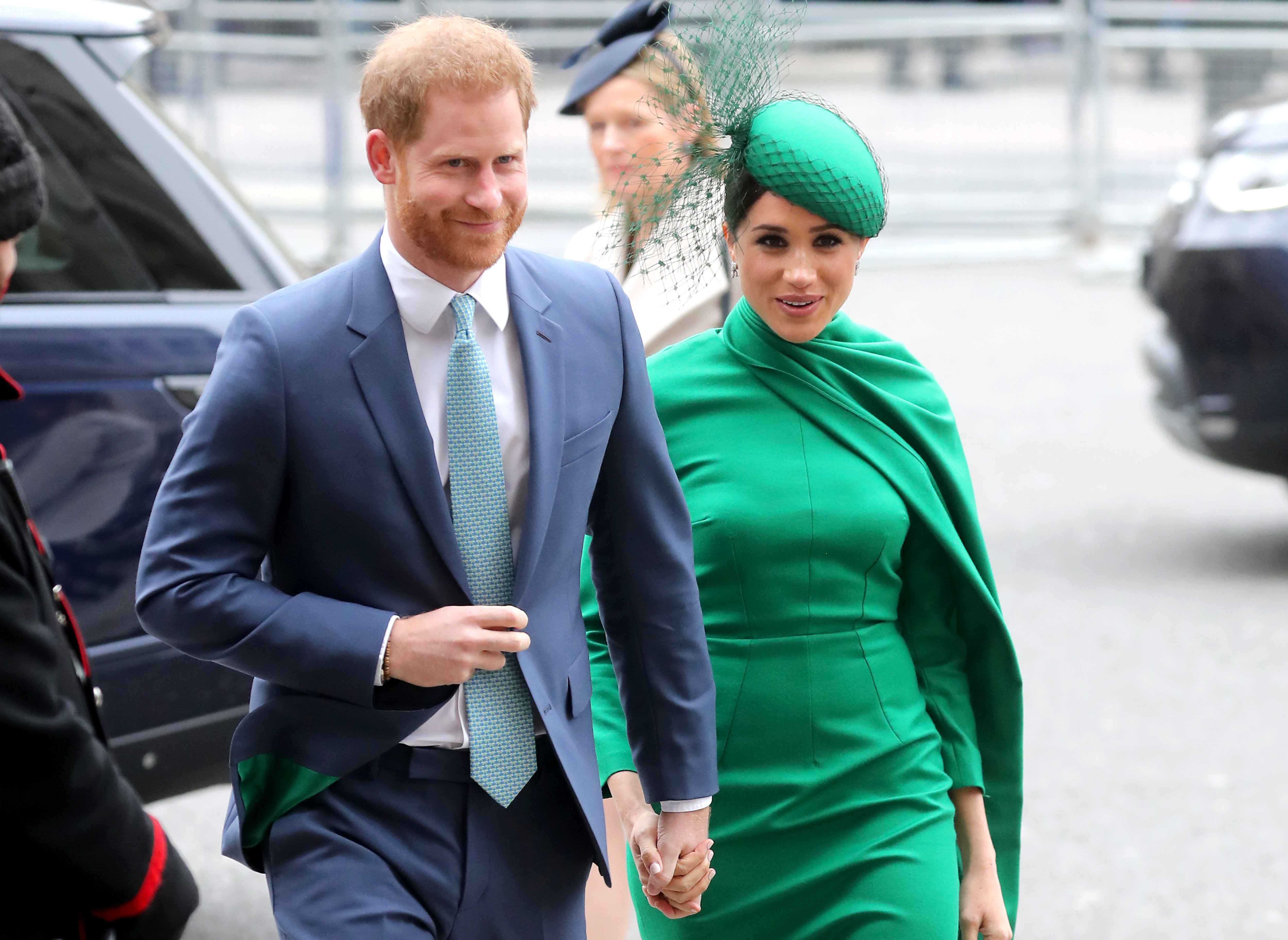 Prince Harry, Duke of Sussex and Meghan, Duchess of Sussex attend the Commonwealth Day Service 2020 at Westminster Abbey on March 09, 2020 in London, England.   Source: Getty Images