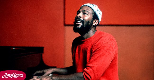 Soul singer and songwriter Marvin Gaye at Golden West Studios in 1973 in Los Angeles, California. | Source: Getty Images