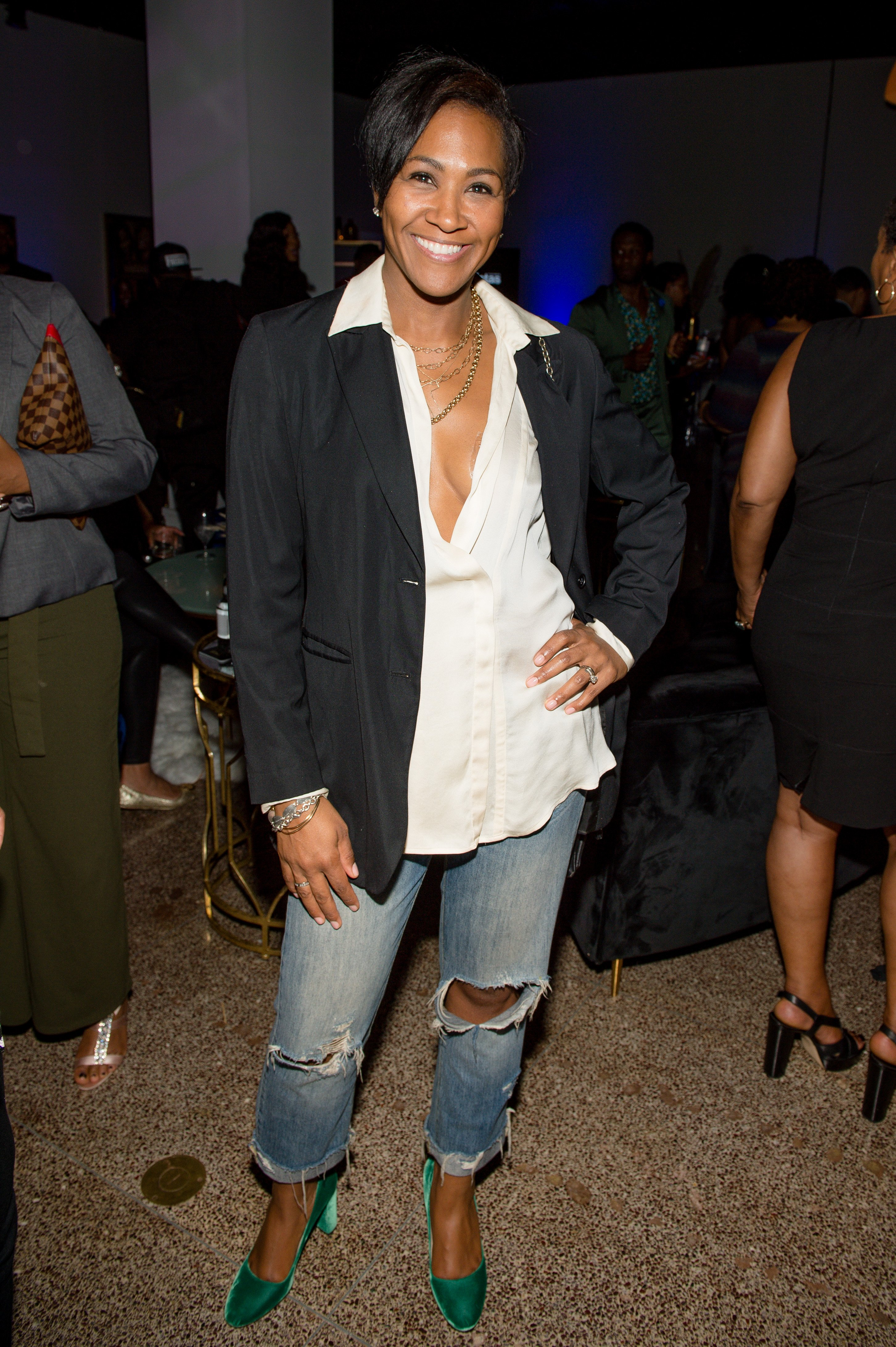 Terri J. Vaughn attends the Oval and Sistas screenings at Southern Exchange on October 20, 2019 in Atlanta, Georgia   Photo: GettyImages