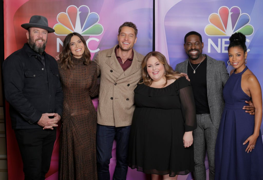 """The cast of """"This Is Us"""" pose during NBC Universal event press tour on January 11, 2020 