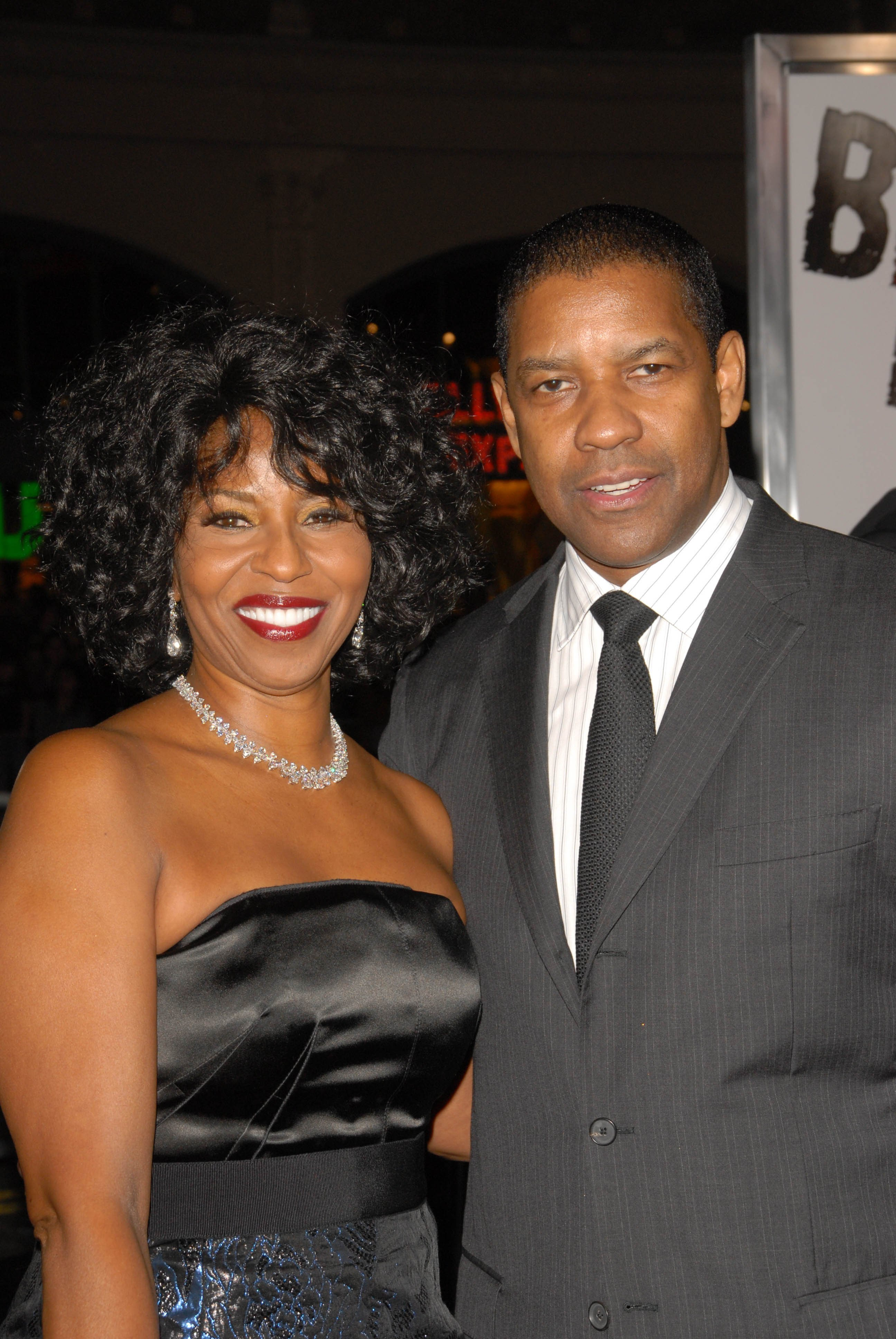 """Denzel Washington and wife Pauletta at """"The Book Of Eli"""" premiere in Hollywood on January 11, 2010 l Source: Shutterstock"""