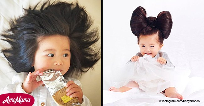 A 1-year-old toddler with an extremely thick head of hair became Pantene star