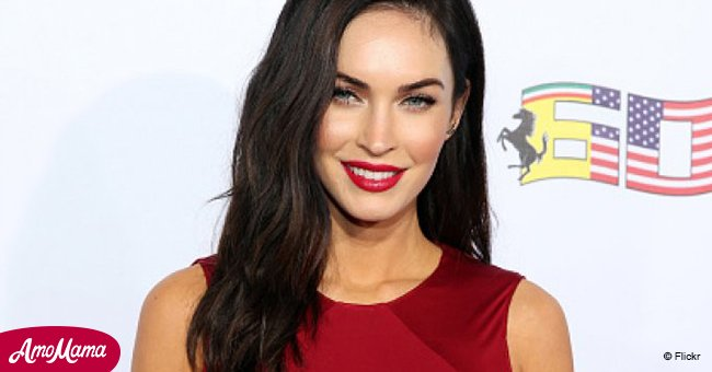 Megan Fox, 31, flashes physique in a peach-colored lace bodysuit