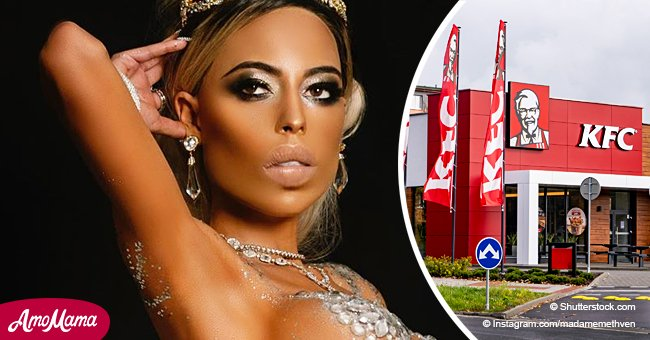 KFC heiress goes naked wearing $10 million worth of diamonds that leave nothing to the imagination
