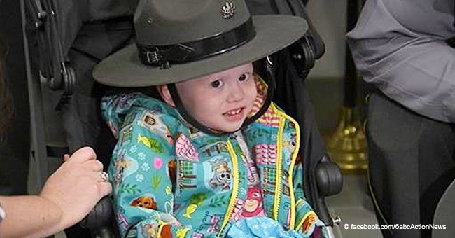 4-Year-Old Girl with Stage 4 Cancer Honored as State Police Trooper