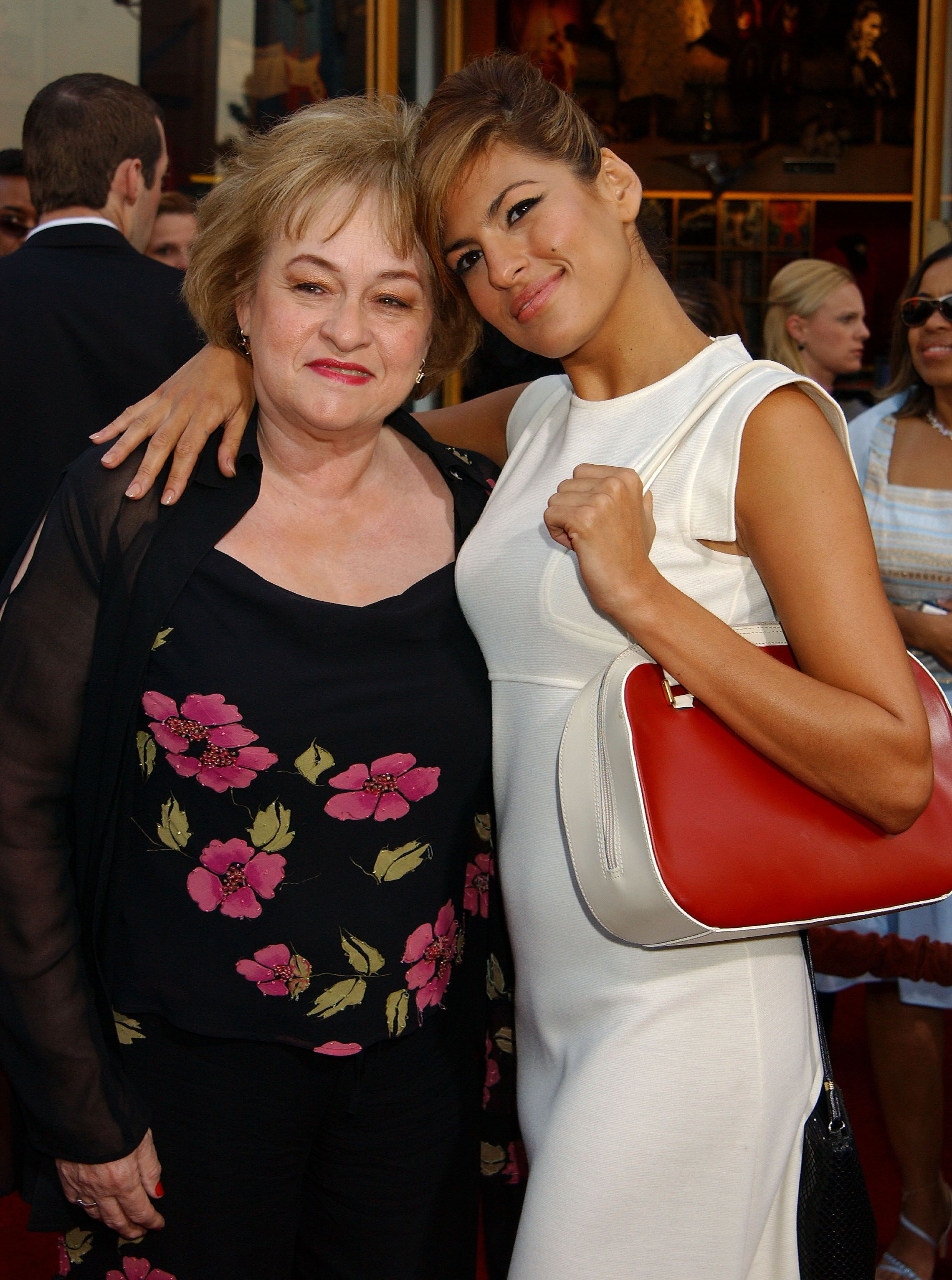 "Eva Mendes her mother, Eva, at the premier of ""2 Fast 2 Furious"" in 2003 