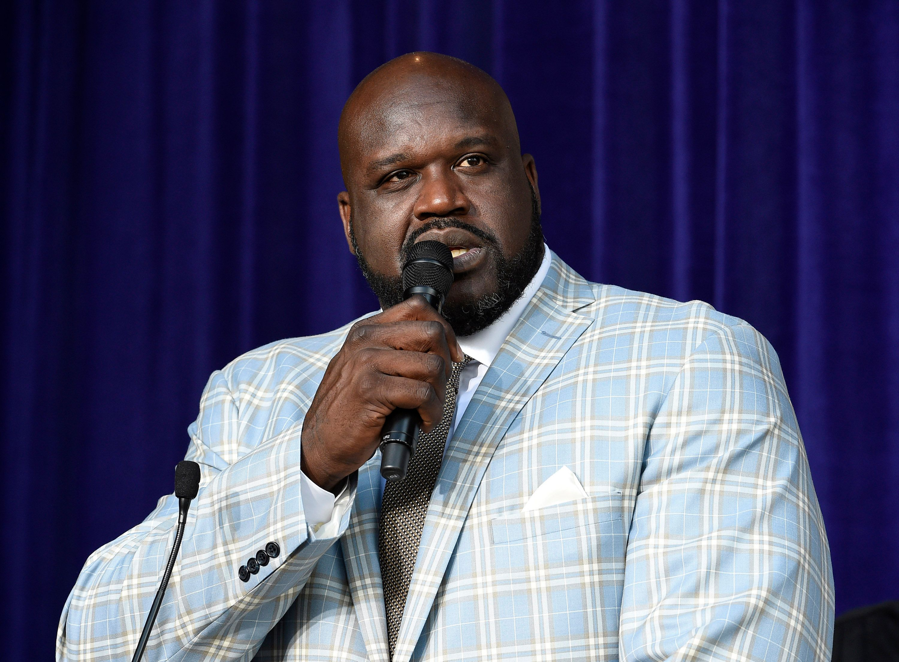 Shaquille O'Neal speaks after unveiling of his statue at Staples Center March 24, 2017, in Los Angeles, California.   Source: Getty Images