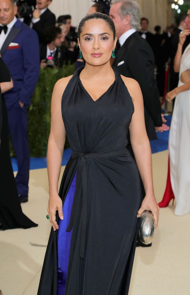 """Salma Hayek at the """"Rei Kawakubo/Comme des Garcons: Art Of The In-Between"""" Costume Institute Gala on May 1, 2017, in New York City 
