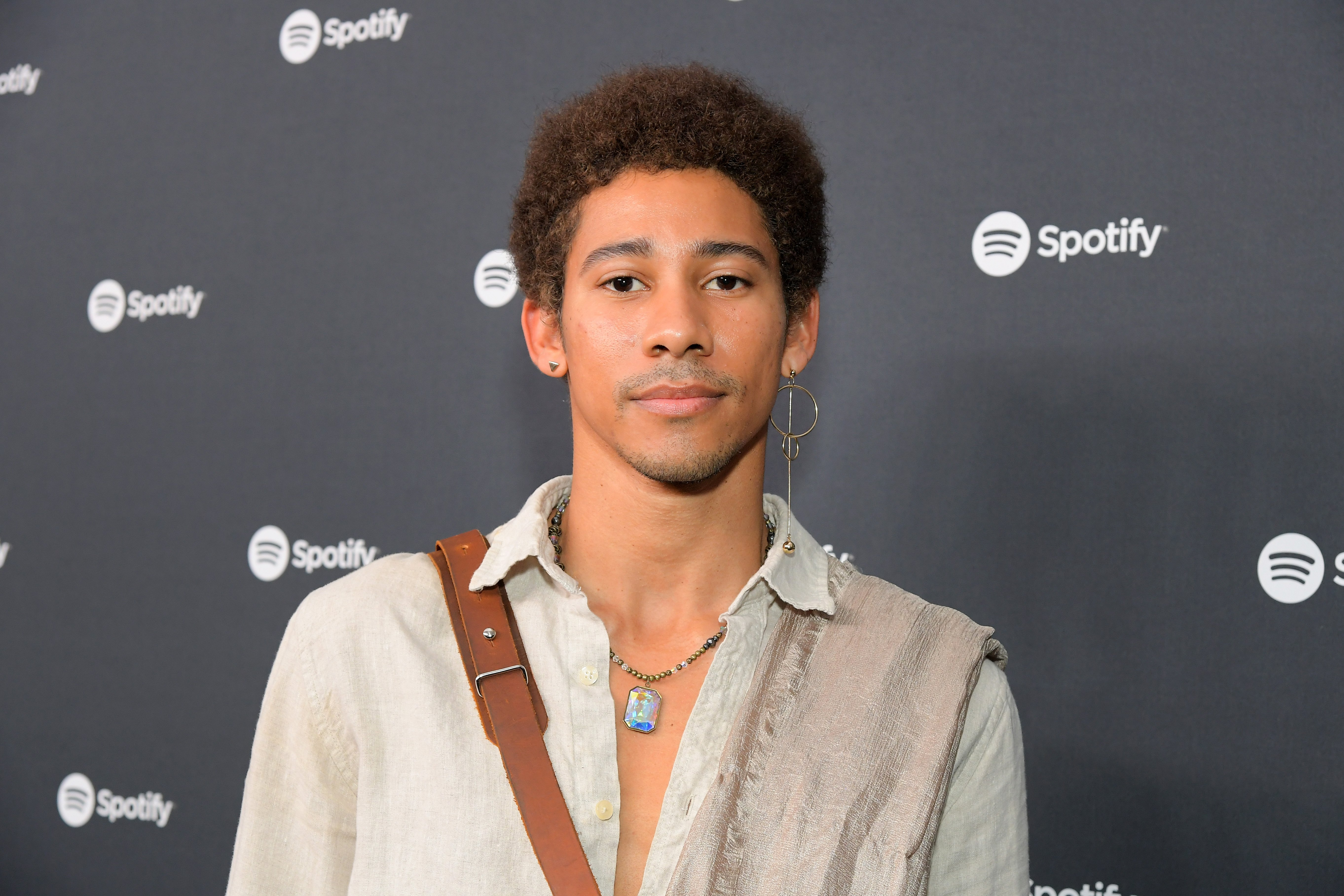 """Keiynan Lonsdale attends Spotify's """"Best New Artist"""" Party at The Lot Studios on January 23, 2020 in Los Angeles, California. 
