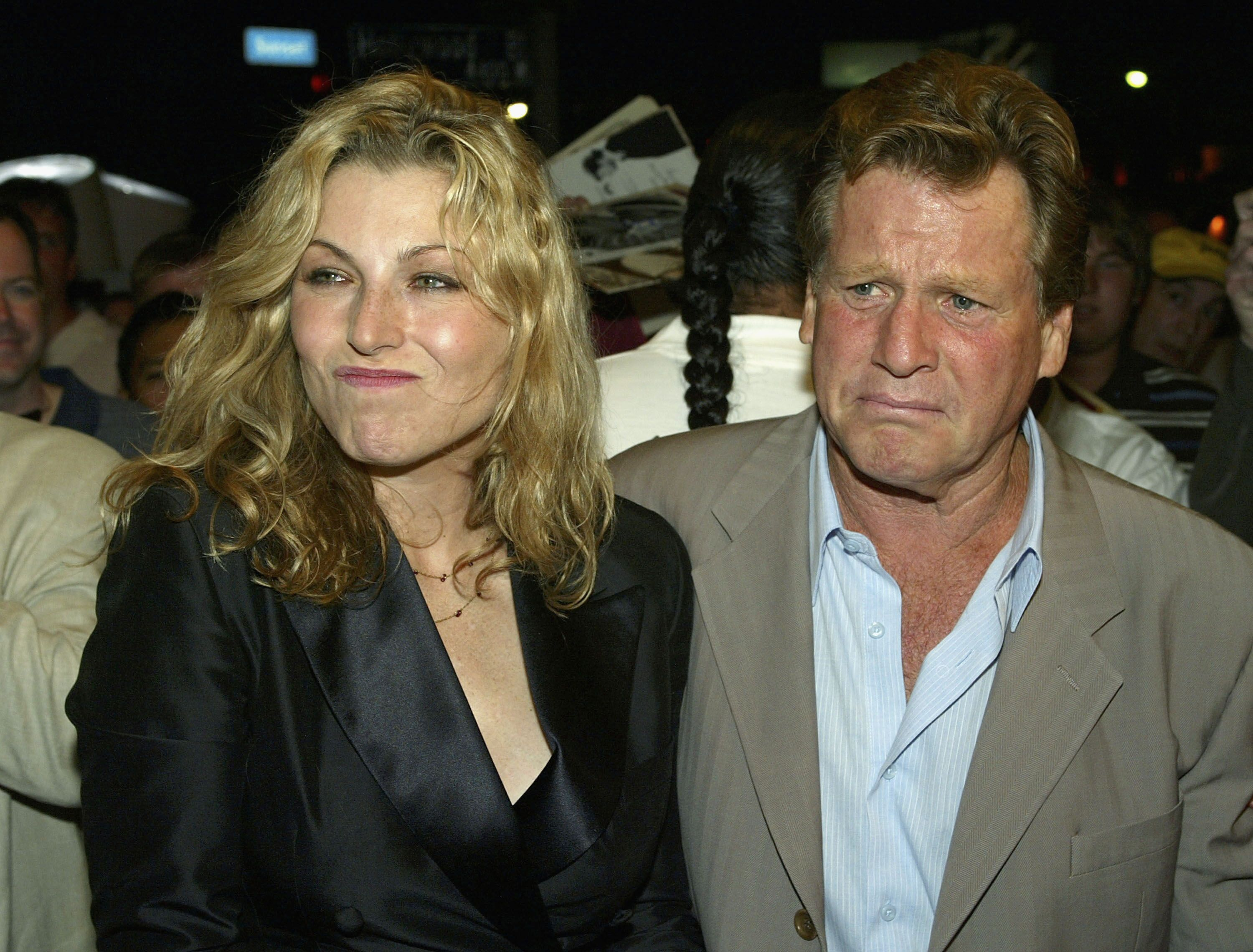 "Tatum O'Neal and her father, Ryan O'Neal, at the 30th anniversary screening of ""Paper Moon"" on August 21, 2003. 