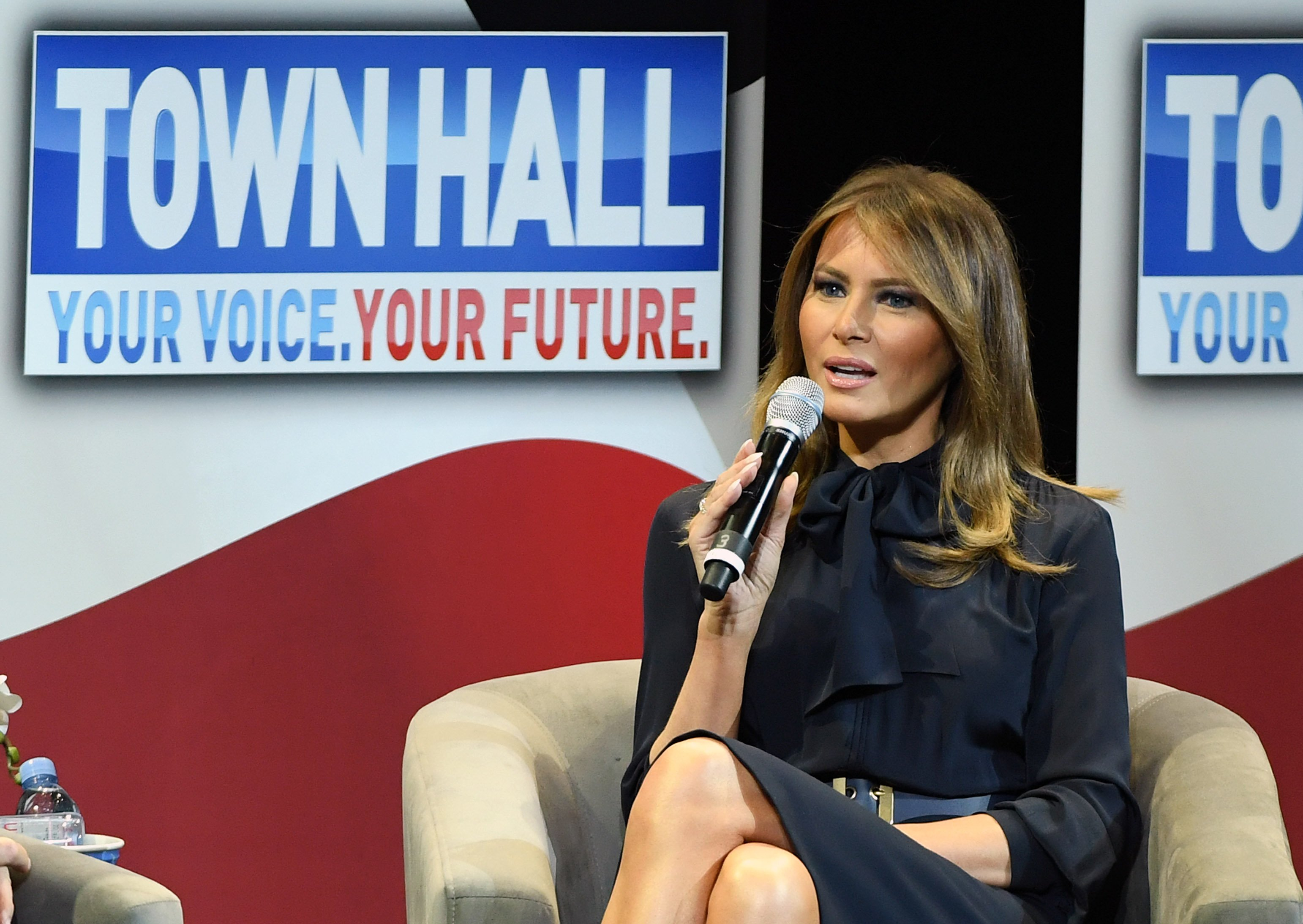 Melania Trump at a town hall in Las Vegas for her Be Best tour on February 5, 2019 | Photo: Getty Images