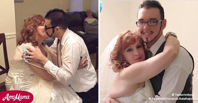 """Eine 72-Jährige, die einen 19-Jährigen heiratete, feiert zwei Jahre Ehe mit ihrem """"wundervollen Liebhaber"""""""